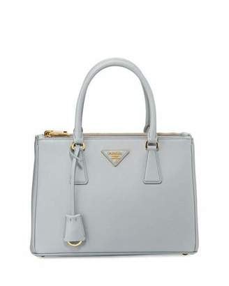 Prada Saffiano Lux Double-Zip Tote Bag, Light Gray (Gratino) $1,990 thestylecure.com