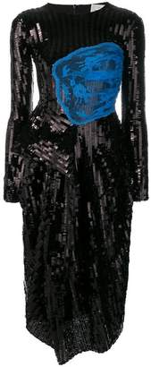 Preen by Thornton Bregazzi sequin embellished fitted dress