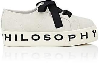 Philosophy di Lorenzo Serafini Women's Logo-Sole Suede Platform Sneakers - Cream