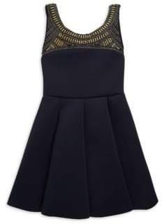 Zoe Girl's Jurnee Pleated Swing Dress