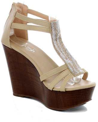 Refresh Tampa Open Toe Wedge Sandal $55.99 thestylecure.com