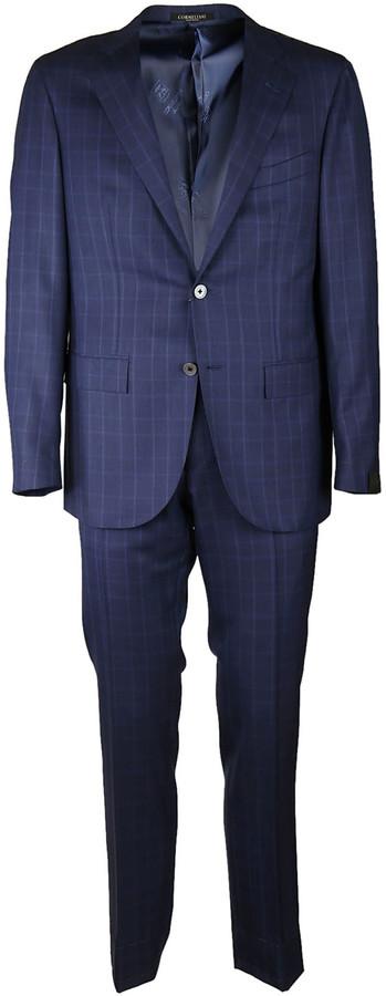 CornelianiCorneliani Checked Suit