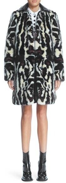 CarvenWomen's Carven Bengal Print Faux Fur Coat