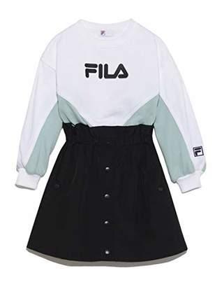 Snidel (スナイデル) - [スナイデル] Girl FILA リメイクスウェット SKCO186336 ガールズ MNT 日本 120 (日本サイズ120 相当)