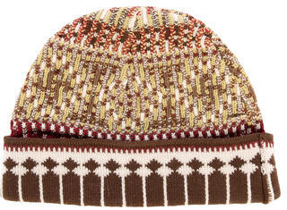 Bally Bally Pattern Knit Beanie