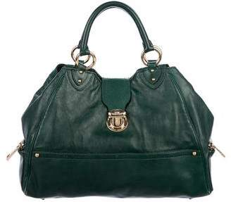 Marc Jacobs Leather Push-Lock Tote