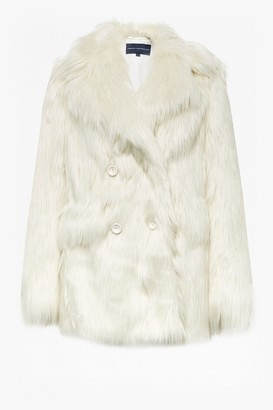 50f598401 French Connection Nariko Faux Fur Double Breasted Coat