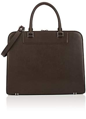 Barneys New York MEN'S LEATHER BRIEFCASE - DK. BROWN
