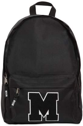 MSGM Logo Patch Canvas Backpack