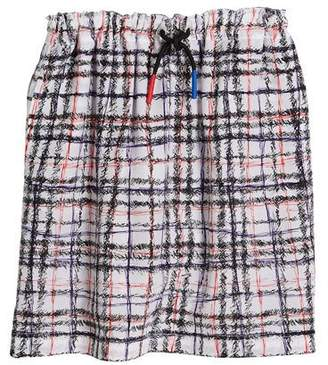 Burberry Candie Gathered Silk Skirt, Size 4-14