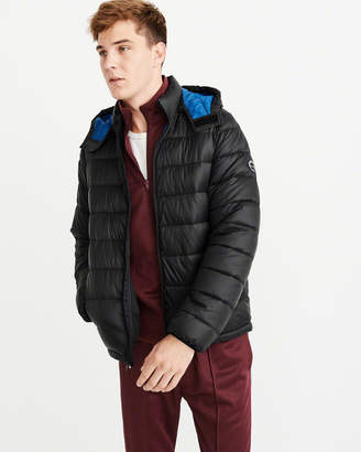 Abercrombie & Fitch The A&F Removable Hood Packable Puffer