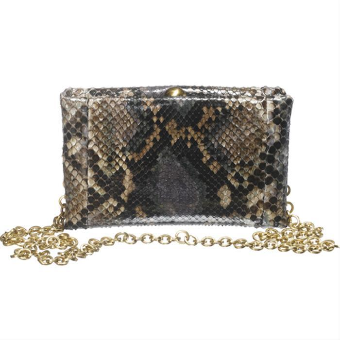 Multi-Toned Python Clutch by Sang A