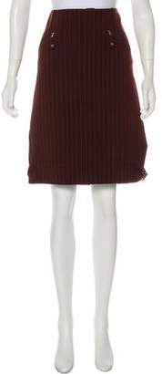 Jean Paul Gaultier Striped Wool Skirt