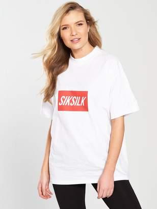 SikSilk Box Print Retro Tee