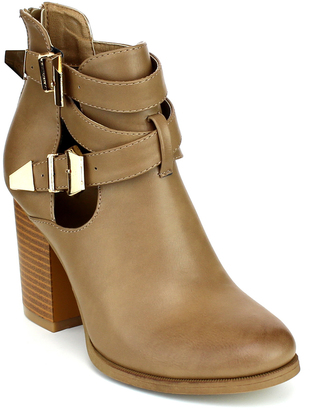 Taupe Double-Buckle Avenue Boot $49.99 thestylecure.com