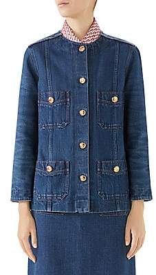 Gucci Women's Washed Denim Lady Jacket