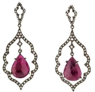 Loree Rodkin 18K Diamond & Ruby Drop Earrings white 18K Diamond & Ruby Drop Earrings