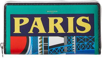 Balenciaga Bazar Paris Continental Leather Wallet