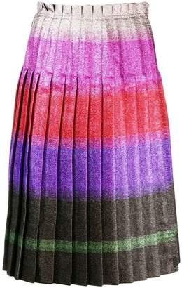 Marco De Vincenzo pleated lurex stripe skirt
