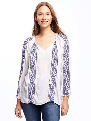 Embroidered Boho Swing Top for Women $29.94 thestylecure.com