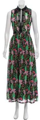 Manoush Floral Print Maxi Dress