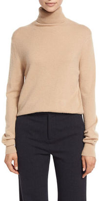 Vince Cropped Cashmere Turtleneck Sweater $320 thestylecure.com