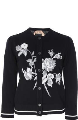 N°21 N 21 Clarissa Wool Embroidered Cardigan