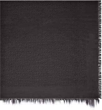 Fendi Logo Silk & Wool Scarf