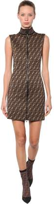 Fendi Logo Printed Jersey Dress