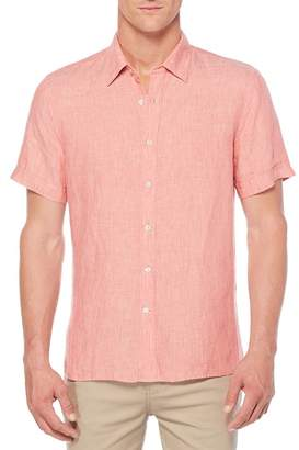 Perry Ellis Solid Linen Regular Fit Shirt