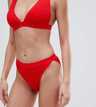 South Beach Crinkle High Leg Bikini Bottom