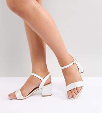 London Rebel Bridal Mid Block Heeled Sandals