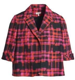 DELPOZO Checked Cotton-Jacquard Jacket
