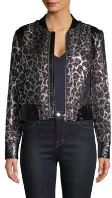 The Mighty Company Metallic Leopard Jacket