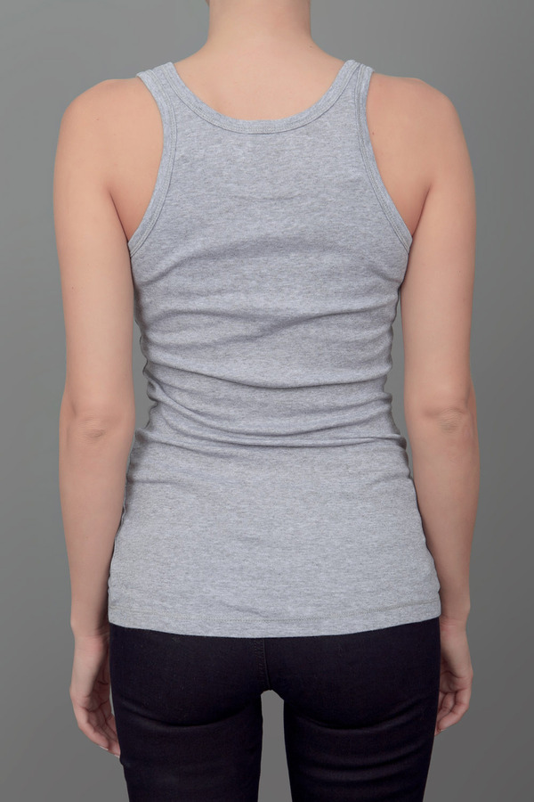 Splendid 1 by 1 Finely Ribbed Layering Tank Heather Grey