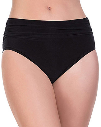 Magicsuit Solid Shirred Jersey Brief Bottom $72 thestylecure.com