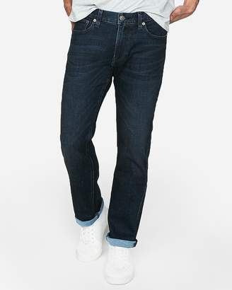 Express Slim Straight Dark Wash Stretch+ Soft Cotton Jeans