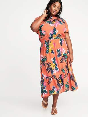 Old Navy Waist-Defined Plus-Size Midi Dress