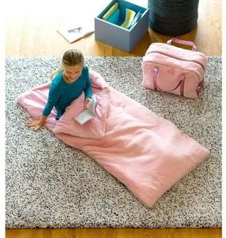 HearthSong Fabuluxe Faux Fur Travel 2-In-1 Kids Sleeping Bag