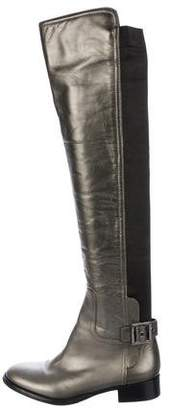 Tory Burch Leather Over-The-Knee Boots