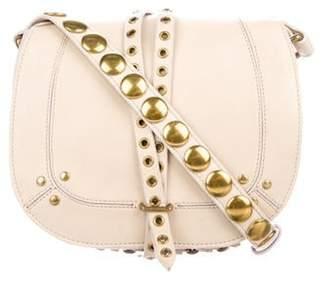 Jérà ́me Dreyfuss Leather Embellished Crossbody Bag Tan Jérà ́me Dreyfuss Leather Embellished Crossbody Bag