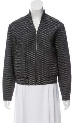 Kaelen Matelassé Zip Front Jacket