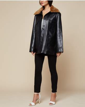 Juicy Couture Leather Workwear Coat