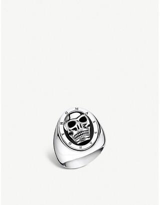 Thomas Sabo Skull silver and onyx signet ring