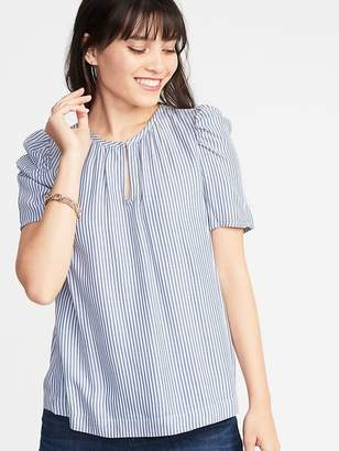 Old Navy Striped Shirred Top for Women