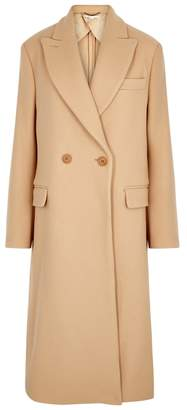 Stella McCartney Katherine Camel Double-breasted Wool Coat