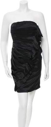 Ungaro Strapless Silk Dress w/ Tags