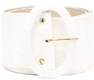 Cult Gaia Lia Oversized Belt - Womens - White
