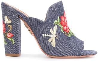 Aquazzura floral print mules