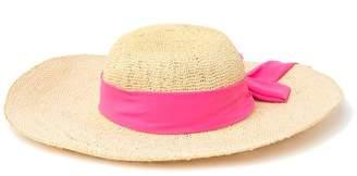 SAN DIEGO HAT Bow Scarf Straw Floppy Hat